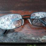 Tropfen auf Gläsern