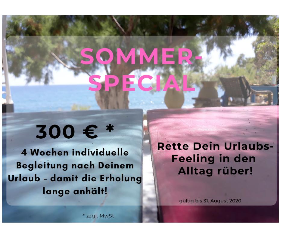 Sommer spezial Angebot